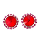 10mm Post Pomegranate Stone Earring