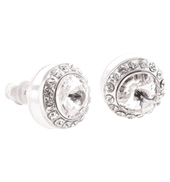8mm Celestial Button Post Earrings