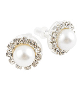 8mm Pearl Cluster Earrings