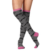 Adult Mustache Knee High Socks