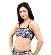 Child Neon Zebra Bra Top