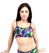 Adult Neon Splatter Bra Top