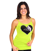 Adult Sequin Heart Camisole Top