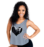 Adult Houndstooth Cross Back Tank Top