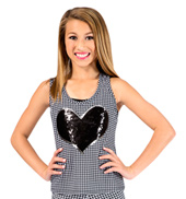 Child Houndstooth Cross Back Tank Top