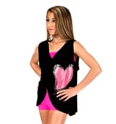Child Foil Heart Draped Tie-Back Top