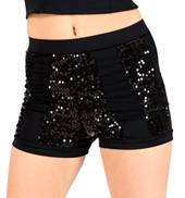 Adult High Waist Sequin Stripe Short