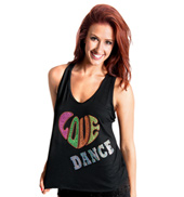 Girls Love Dance Tank Top with Criss Cross Back