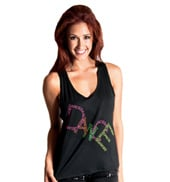 Girls Dance Tank Top with Criss Cross Back