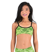 Girls Neon Lace Camisole Bra Top