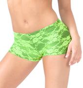 Adult Neon Lace Dance Short