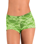 Girls Neon Lace Dance Short
