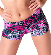 Girls Peace Printed Dance Short