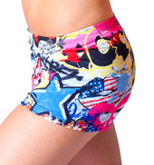 Adult Graffiti Printed Dance Short
