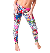 Adult Graffiti Printed Leggings