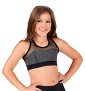 Girls Fishnet Tank Bra Top