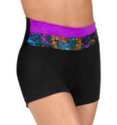 Girls High Waist Overlapping Shorts