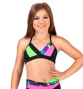 Girls Neon V-Neck Camisole Bra Top