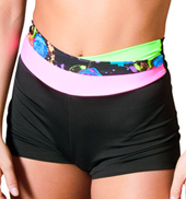 Adult Neon High Waist Overlapping Shorts