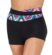 Girls Swirl High Waist Overlapping Shorts