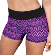 Girls Printed Wide Band Dance Shorts