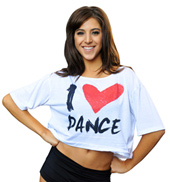 Adult I Love Dance Crop Top