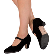 Adult Suede Sevilla 2.5 Heel Flamenco Shoe