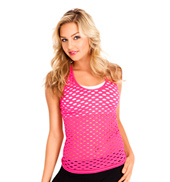 Fishnet Racer Back Tank Top