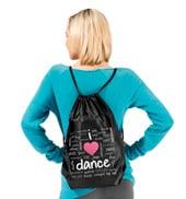 I Love Dance Cinch Backpack