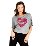 Adult Love Dance Crop T-Shirt