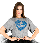 Child Love Dance Crop T-Shirt