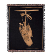 Woven Pointe Shoes Throw
