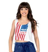 Adult Distressed American Flag Tank Top