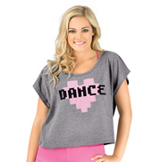 Adult Pixel Heart Dance T-Shirt
