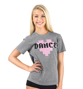 Girls Pixel Heart Dance T-Shirt