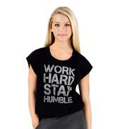Girls Work Hard Stay Humble Dance T-Shirt
