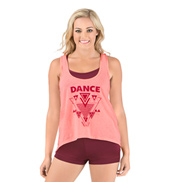 Adult Neon Aztec Hi-Lo Dance Tank Top