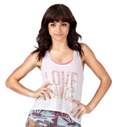 Adult Love Dance Floral Hi-Lo Tank Top