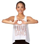 Girls Love Dance Floral Hi-Lo Tank Top