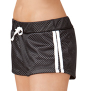 Adult Sporty Mesh Side Stripe Dance Shorts