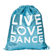 Sequin Live Love Dance Cinch Bag