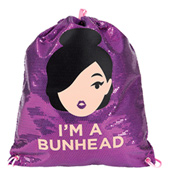 Sequin Cinch Im A Bunhead Bag