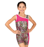 Girls Wild World Asymmetrical Tank Biketard