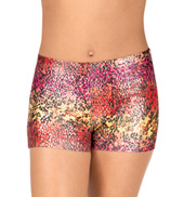 Girls Animal Sunset Gymnastics Shorts