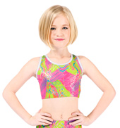 Child Future Star High Voltage Racer Back Bra Top