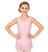 Girls Printed Tank Ballet Dress
