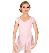 Girls Short Sleeve Stardust Ballet Dress