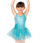 Girls Lattice Trim Camisole Dance Dress