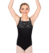 Girls Falling Star Strappy Tank Leotard