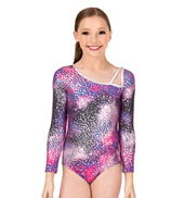 Girls Diamonds in the Sky Long Sleeve Leotard